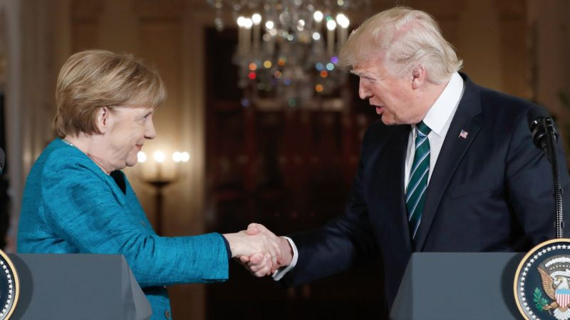 Photo #1 - Germany - Otta Nottathil - merkel_meet_trump